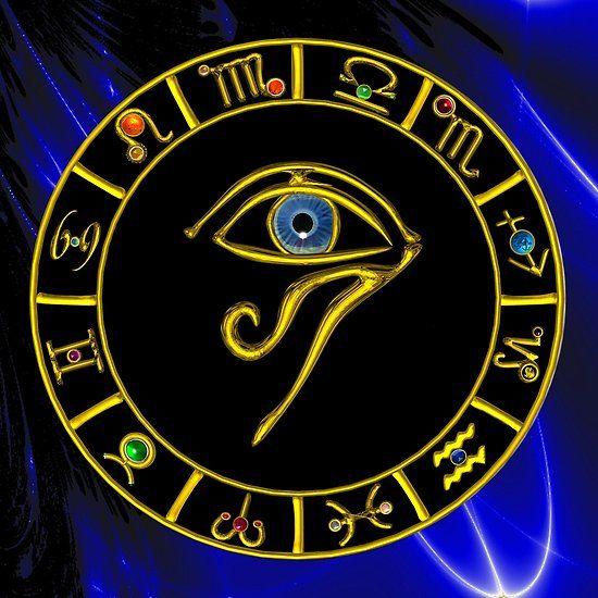 ASTRAL HORUS EYE ,BLUE TALISMAN GOLD ZODIACAL SIGNS CHART  #astrology #astrologist #zodiac #3d #horus #eye #divinity #egyptian #egypt #tarots #psychicreader #zodiacsigns