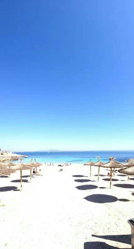 On the beach at Illetas, Mallorca
