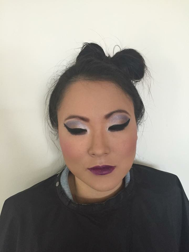 Makeup with again features.
