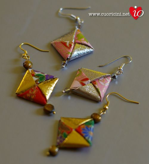 Challenge 100 origami earrings