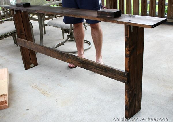 DIY Sofa Table - Christinas Adventures