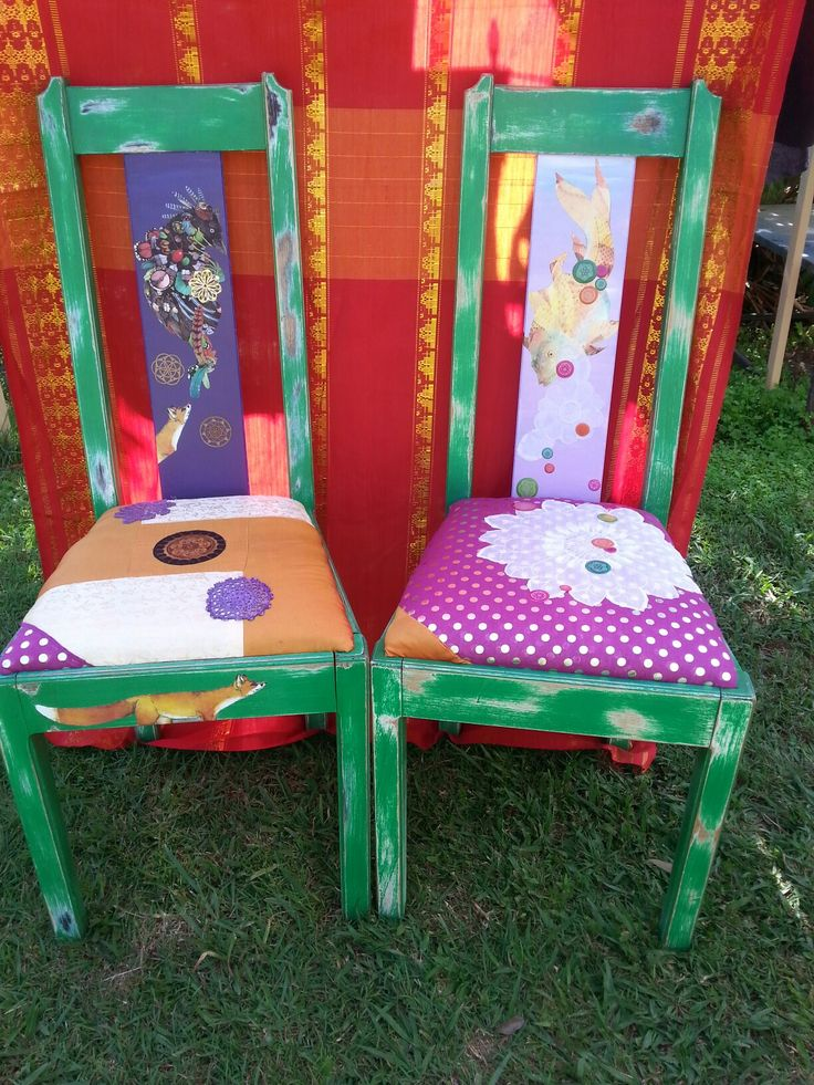 Old chairs upcycled : by SimMeana .