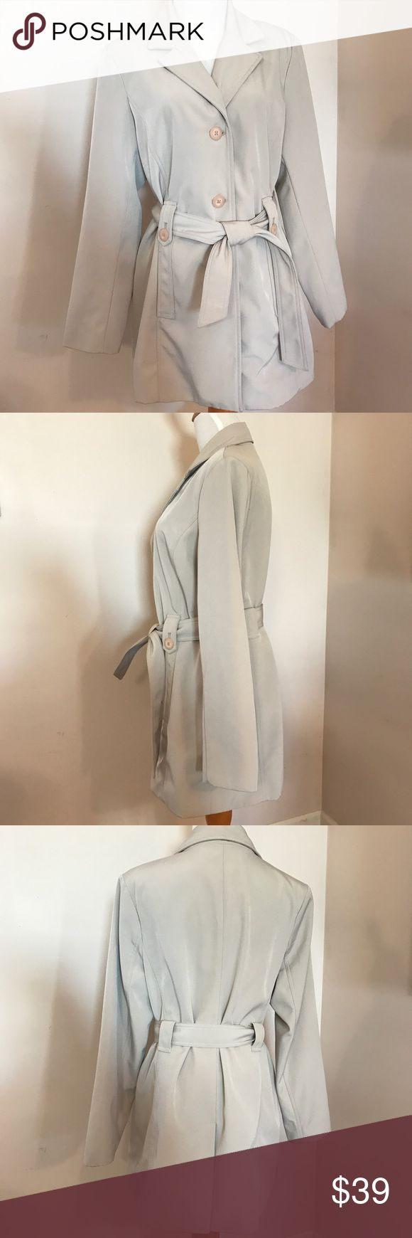Wonderful Neutral Belted Trench Sometimes Merona goes above and beyond with their designs particularly this one. This is just a fantastic little water resistant coat for spring and summer. Classic style, great water resistant fabric. No flaws, perfect. No trades or lowball offers please. Merona Jackets & Coats Trench Coats