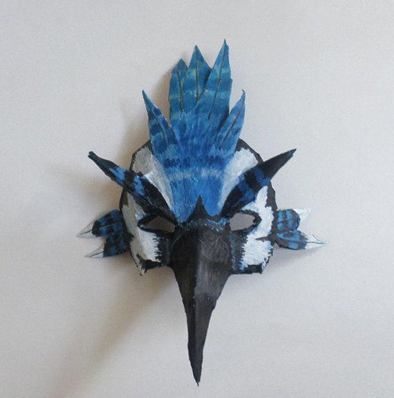 Make paper bird mask