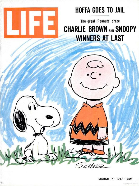 Peanuts of the cover of LIFE magazine, March 1967
