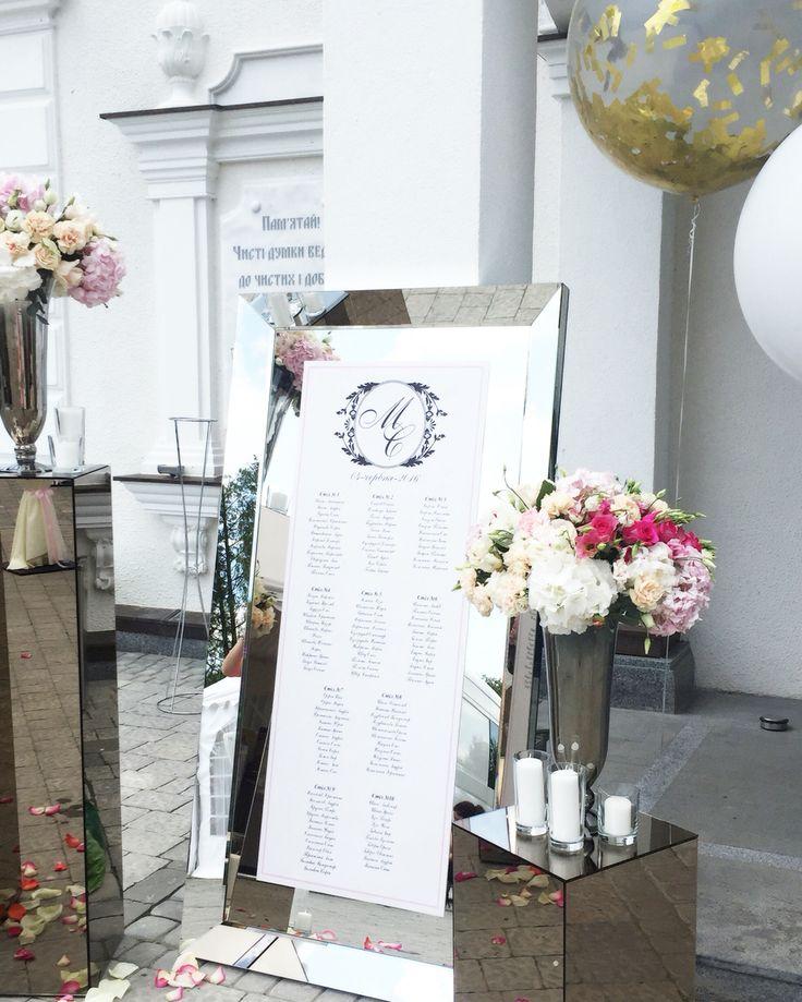 Список гостей на свадьбу.Рама.Зеркало.Wedding mirror