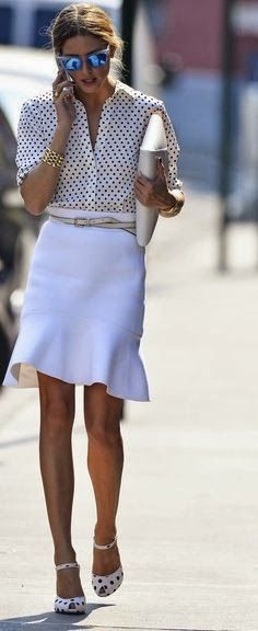 Olivia Palermo does a SMALL polka.