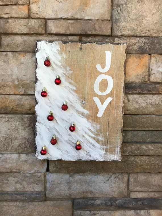 Joy Christmas Sign Hand Painted 3d Christmas Sign Joy 3d Decoration Rustic Red White Christm Christmas Signs Wood Rustic Christmas Christmas Tree Decorations