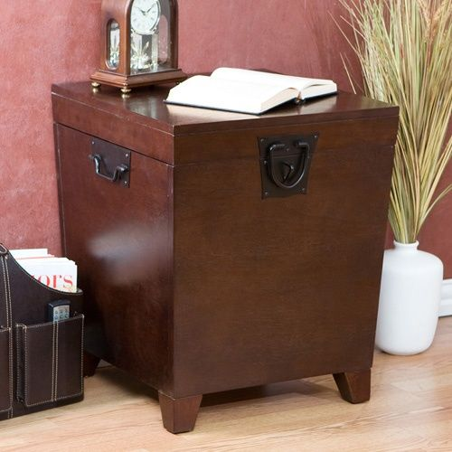 Southern Enterprises Pyramid Trunk End Table - Espresso - End Tables at Hayneedle