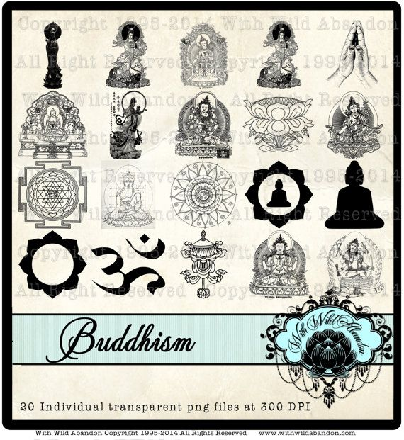 Check out Buddha Clipart, Namaste and Quan Yin Illustrations, Tibetan Clipart, Om Clipart on withwildabandon