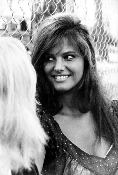The beautiful smile of the italian actress Claudia Cardinale