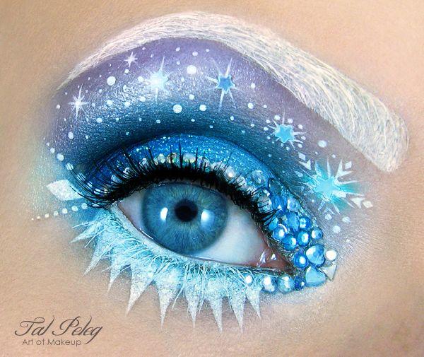 Gorgeous Elsa Frozen Eye Makeup