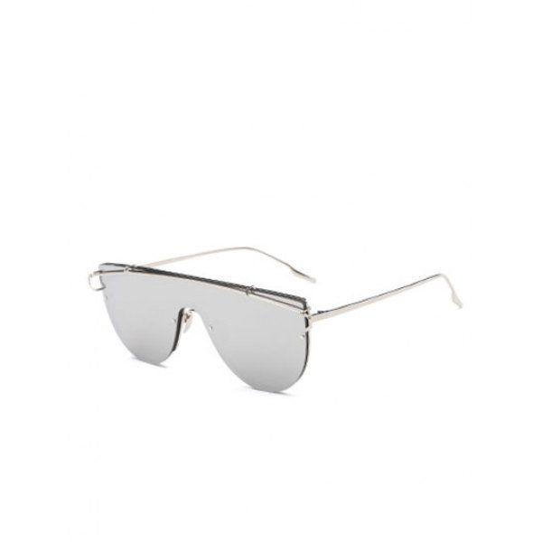 Joy-Ride Cross-Bar Mirrored Sheild Sunglasses