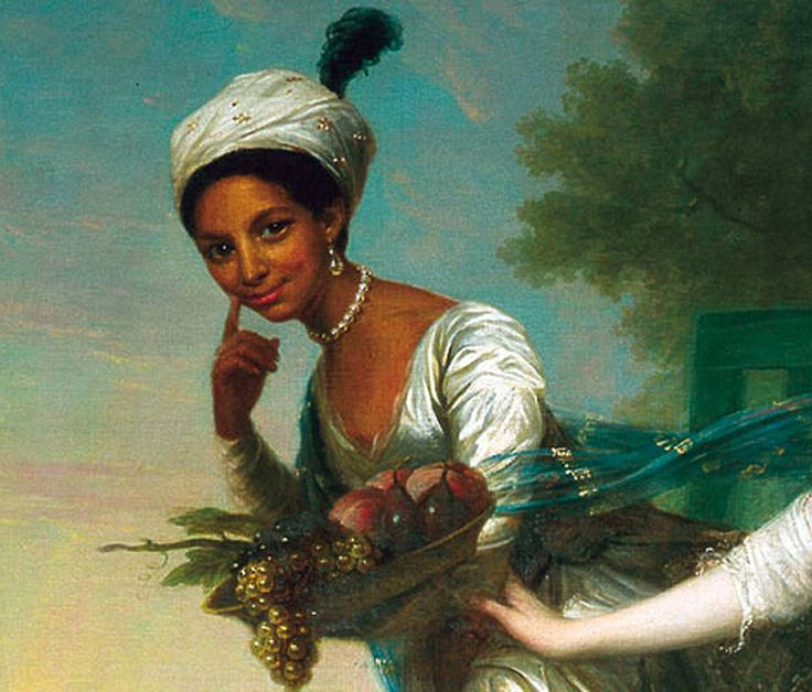 Dido Elizabeth Belle was the illegitimate daughter of Admiral Sir John Lindsay and an enslaved African woman named Maria Belle.  This painting (1779) was most likely commissioned by her father, the nephew of the Earl of Mansfield, and depicts the beautiful and vivacious Dido alongside her cousin, Elizabeth Murray
