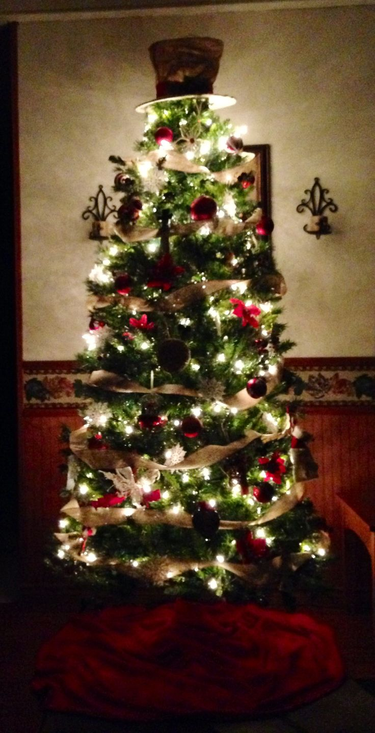 walmart christmas tree skirts part 37 red u0026 burlap tree hat for topper - Walmart Christmas Tree Skirts