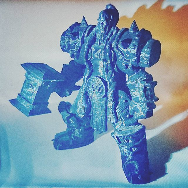 3d printed Thrall. Warcraft facebook.com/letme3dprintthat