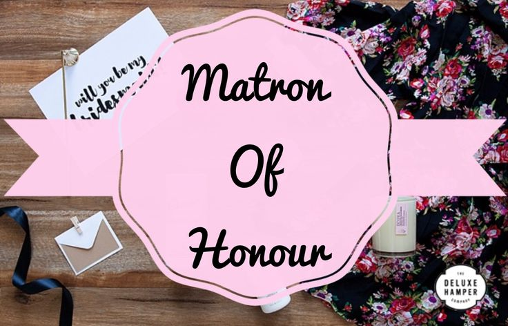 Will you be my Matron Of Honour…. Satin Robe