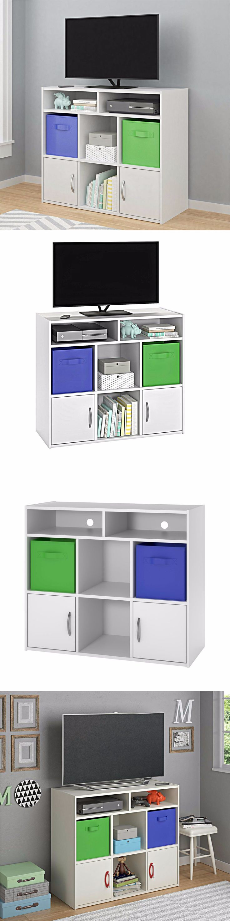 White tilt out clothes storage basket bin bathroom drawer ebay - Other Kids And Teens Furniture 66744 Small Tv Stand Storage Cabinets Dresser Media Doors Console