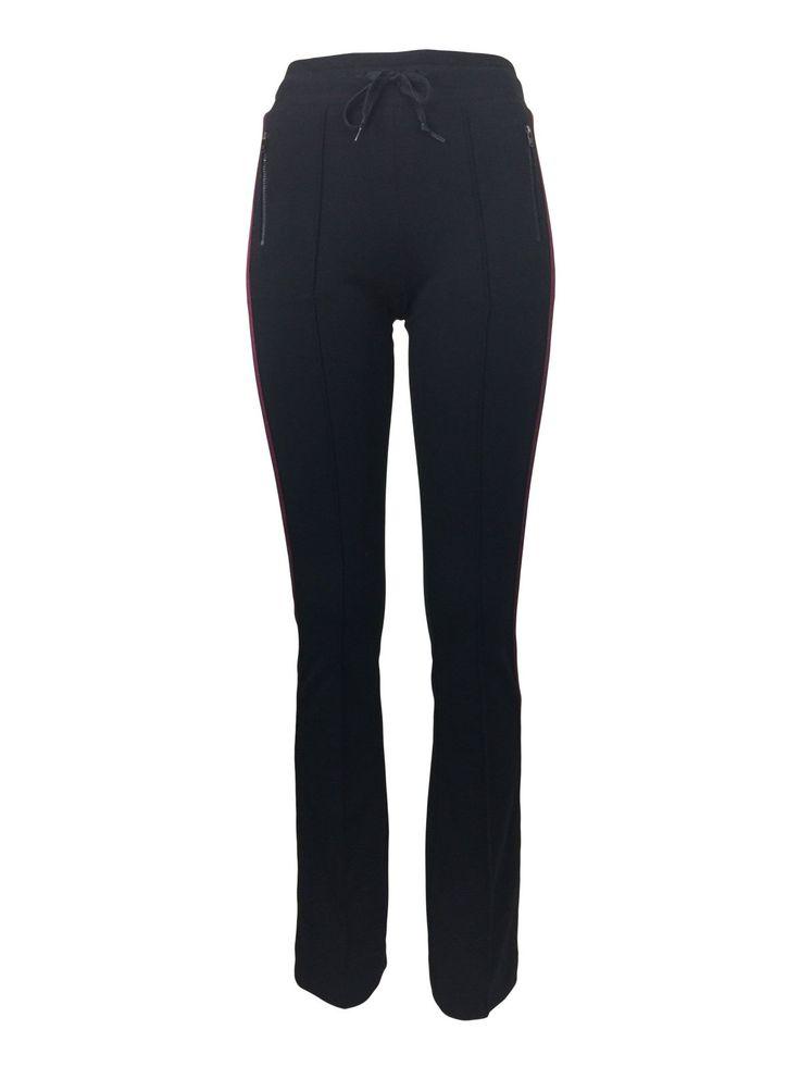 High Waist Slim Flare Side Stripe Track Pants by Atelieri