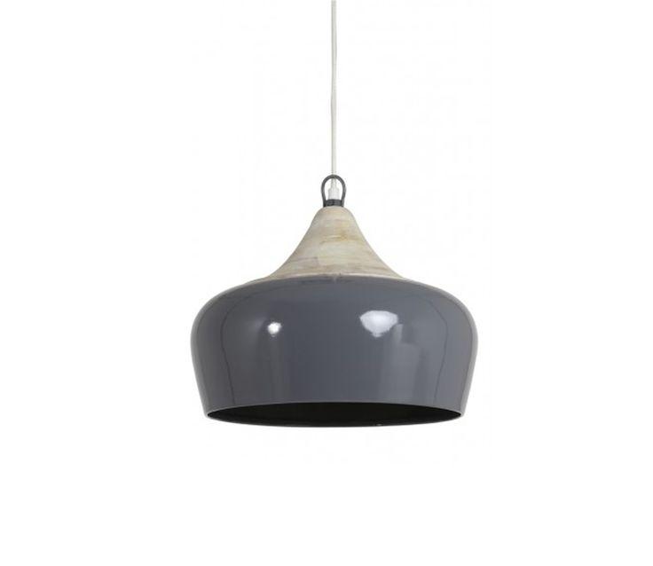 Voorbeeld van Hanglamp Damaris grijs Ø 34 cm