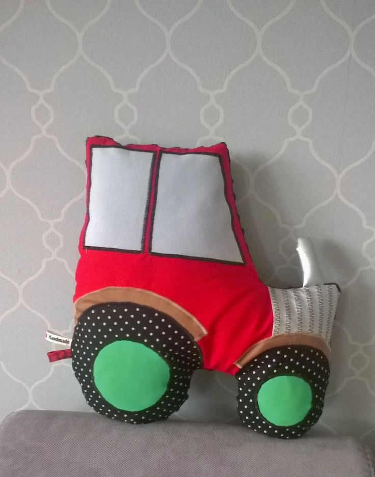 Tractor pillow for boys