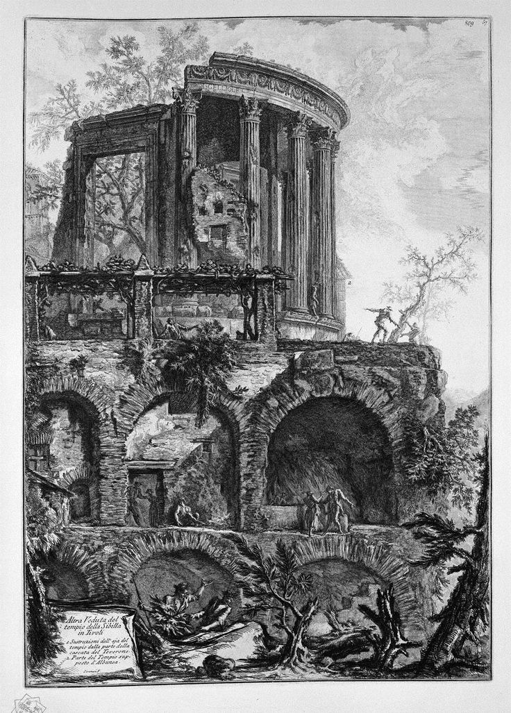 Another view of the Temple of Sibyl by Giovanni Battista Piranesi.