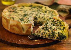Tarta de espinaca, ricota y jamón - Maru Botana