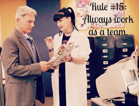 Gibbs' Rule #15. Always work as a team. Season 5, episode 5