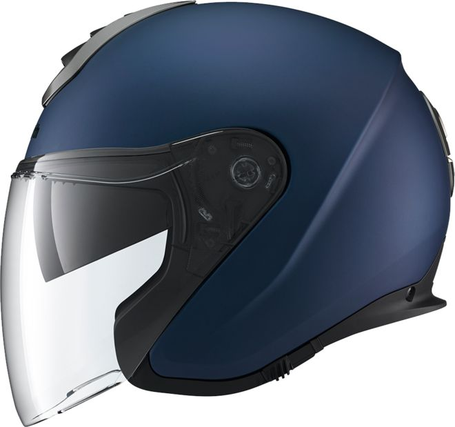 JUST RELAX. IT'S A SCHUBERTH. For highest demands. Adjustable to your requirements. The jet helmet M1 sets the highest standards for comfort and safety FITS PERFECTLY. FITS SAFELY. The motor cycle hel