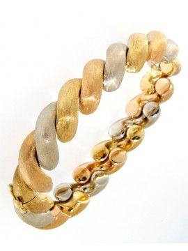 Bracciale in oro bicolore