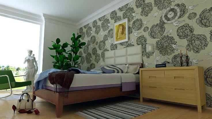 d coller du papier peint sans produits chimiques les. Black Bedroom Furniture Sets. Home Design Ideas