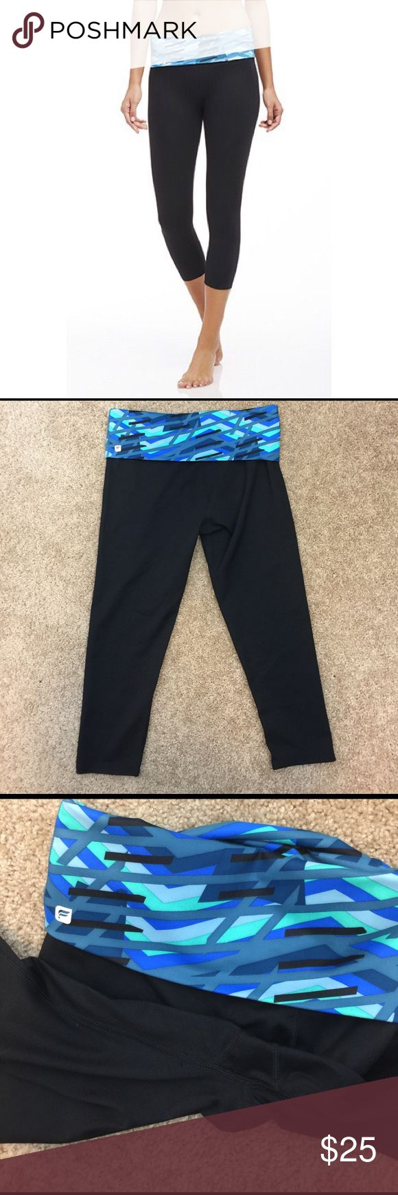 NWOT Fabletics Fold Over Crop Leggings These Crops are new without tags! Only tried on once. The size tag is torn out though. They are size medium! No trades. Smoke and pet free home. Reasonable offers welcome! Fabletics Pants Leggings