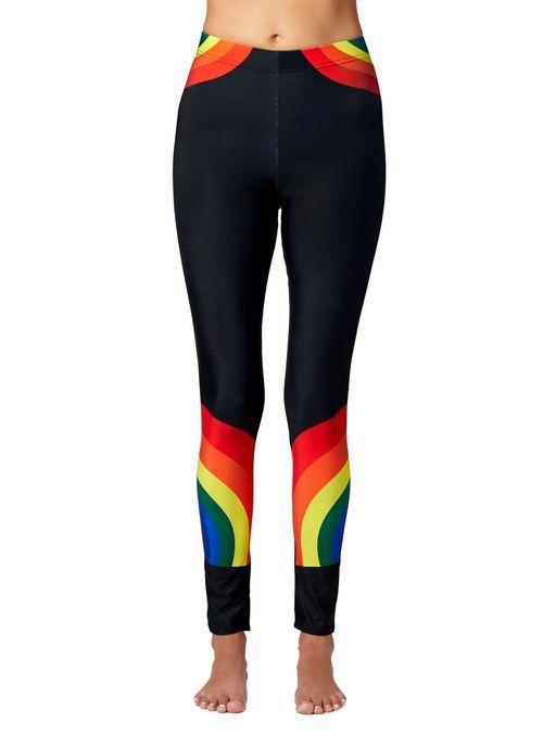 3549b6db7c9c9a Black Leggings with Rainbows | # PIN ANYTHING - NO LIMIT | Black ...