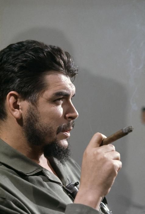 Che Guevara in Cuba, 1964.   A champion of the poor and disenfranchised in Latin America.