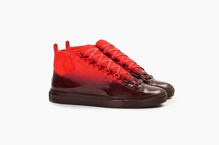 Balenciada Arena, red sneakers, fashion, style, shoes