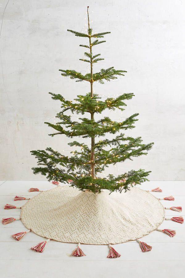 Anthropologie Tasseled Tree Skirt