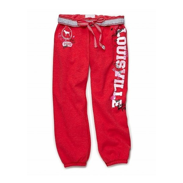 Victoria's Secret - University of Louisville classic pant ($89) ❤ liked on Polyvore