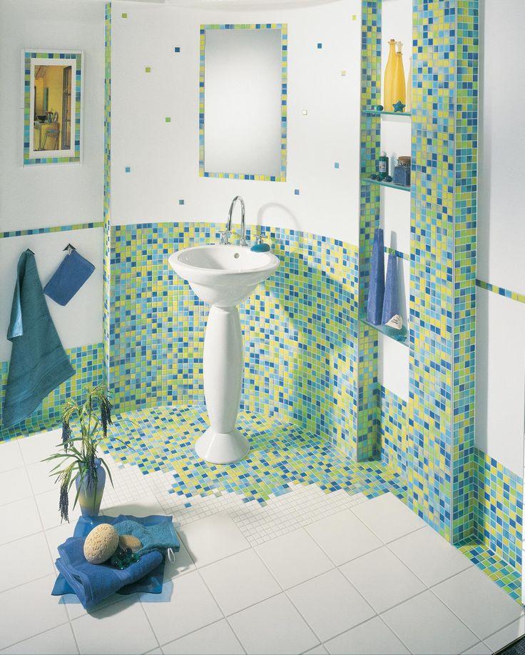 Wandgestaltung Für Das Badezimmer Bilder Ideen   Badezimmer fliesen, Badezimmer gestalten ...