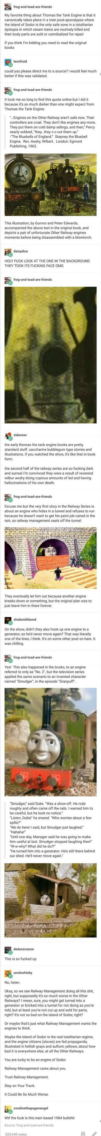 Thomas the Tank Engine Dystopian Discourse | now i need to fucking read this.