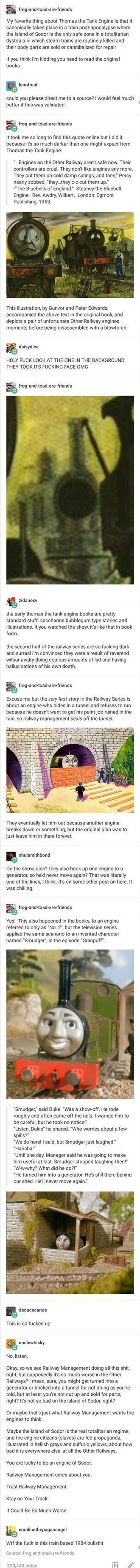 Thomas the Tank Engine Dystopian Discourse