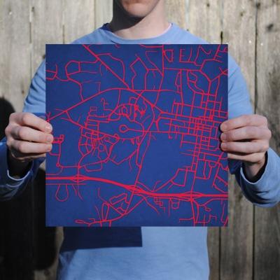 University of Mississippi | City Prints Map Art