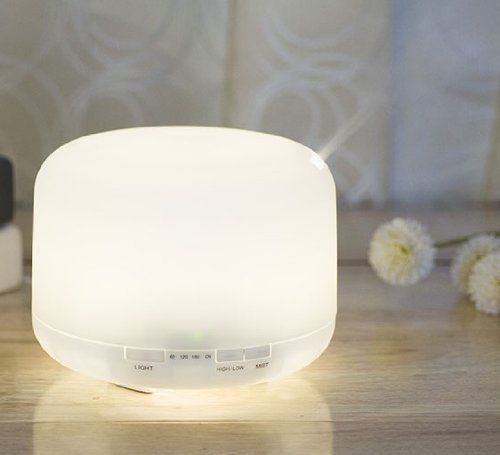 ECVISION 500ML 360 Rotation Aroma Diffuser Ultrasonic Humidifier LED Color Changing Ionizer