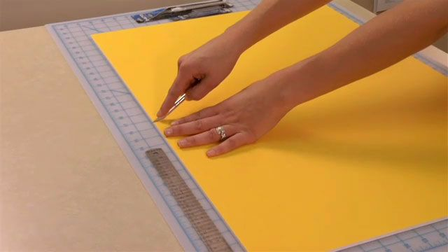 how to make a box out of foam board