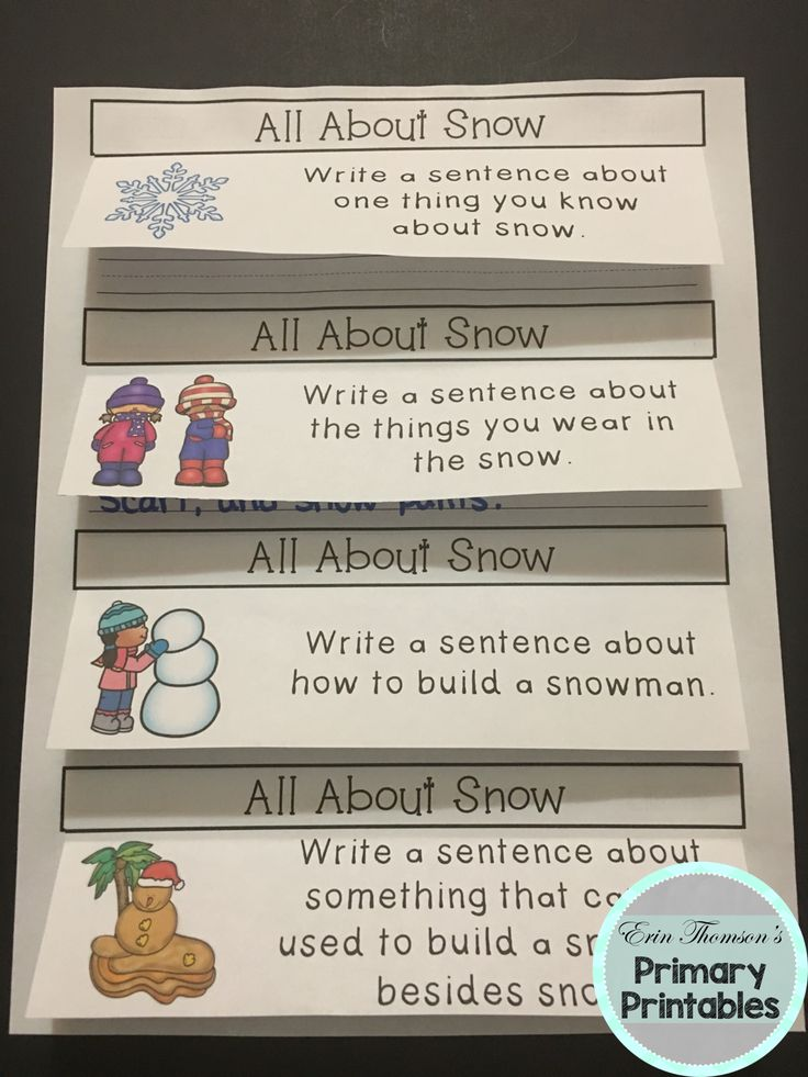 Interactive Quick Write writing prompts for winter