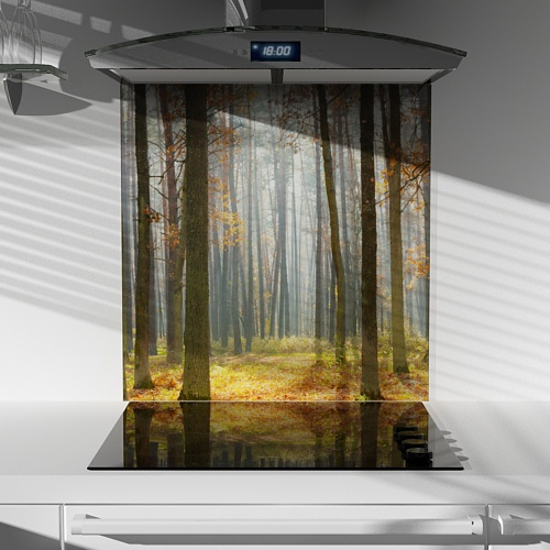 Digitally Printed Glass Splashback - Forest