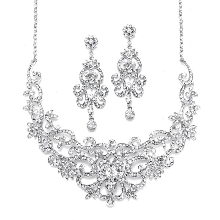mariell scroll wedding jewelry set 2108s www