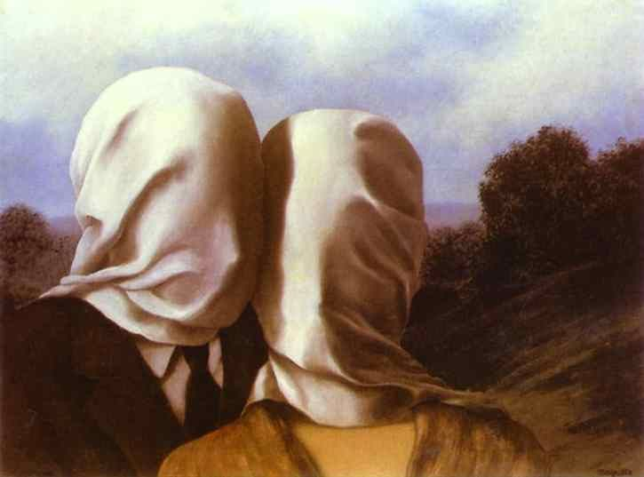 Surrealism Paris Years   Matteson Art Rene Magritte   The Lovers I (Les  Amants) 1928 Oil On Canvas 54 X 73 Cm