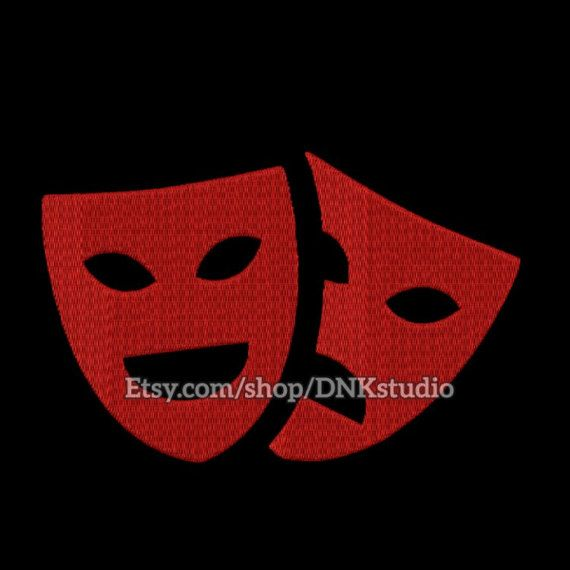 Mardi Gras Comedy Tragedy Theatre Drama Mask Embroidery Design - 4 Sizes - INSTANT DOWNLOAD  This design manually made by hand, from start to finish. It is a digitized embroidery design for a buyer who has an embroidery sewing machine.  https://www.etsy.com/listing/512187913/mardi-gras-comedy-tragedy-theatre-drama #stitch #digitized #Sewing #Needlecraft #stitches #Embroidery #Applique #EmbroideryDesign #pattern #MachineEmbroidery #MardiGras #Comedy #Tragedy #Theatre #Drama #Mask #opera #art