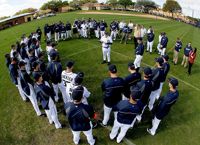 detroit tigers at training camp - lakeland, fl  Yeah!!!