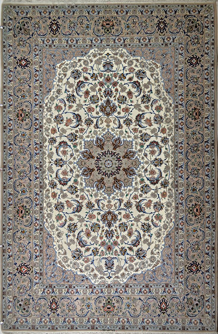 Isfahan Silk Persian Rug | Exclusive collection of rugs and tableau rugs - Treasure Gallery Isfahan Silk Persian Rug You pay: $6,900.00 Retail Price: $19,000.00 You Save: 64% ($12,100.00) Item#: 1208 Category: Medium(6x9-8x11) Persian Rugs Design:  Size: 306 x 203 (cm)      10' 0 x 6' 7 (ft) Origin: Persian, Isfahan Foundation: Silk Material: Wool & Silk Weave: 100% Hand Woven Age: Brand New KPSI: 700